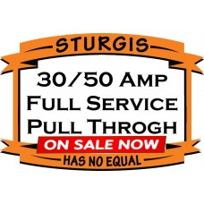 30/50 Amp Full Service RV Site  SOFT TAIL / HERITAGE  - Pull Through